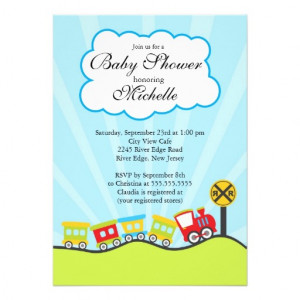 baby shower off right with our cute little choo choo train baby shower ...