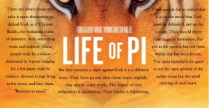Life of Pi quote about religion