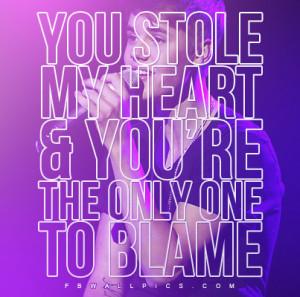 You Stole My Heart Quotes You stole my heart quote