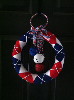 My patriotic wreath! Memorial Day, 4th of July and Labor Day!