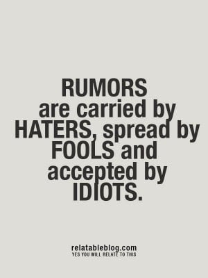Haters, Fools, and Idiots