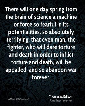 Thomas A. Edison War Quotes