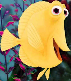 """BUBBLES is a bubble-obsessed yellow tang. Stephen Root (""""J. Edgar ..."""