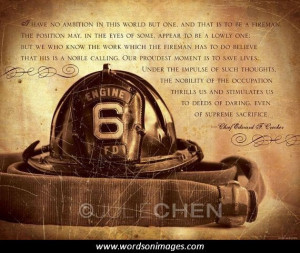 Firefighter Motivational Quotes About Life