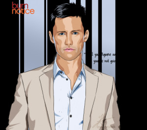Burn Notice - Michael Westen by InvisibleRainArt