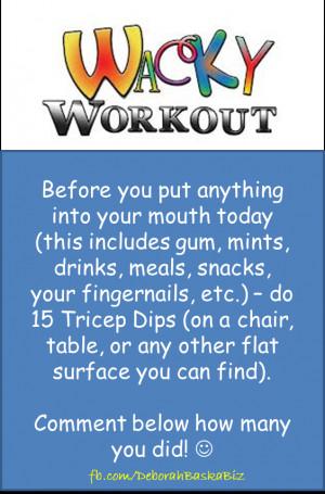 Day 11 – Wacky Wednesday Workout!