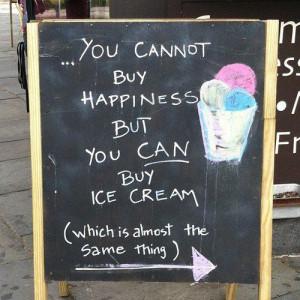 ... , happy, ice cream, life, live, love, quote, quotes, summer, text
