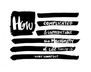 Kurt Vonnegut Quote // Original Artwork // Digital Print // Literary ...