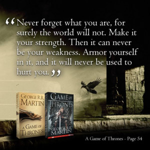 Good Game of Thrones tattoo quote.