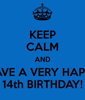 14Th Birthday Cans T, Happy Birthday, Happy 14Th Birthday, Birthday ...