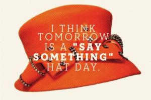 say something hat day
