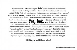top 40 killer phrases poster here are the top 40 killer phrases that ...