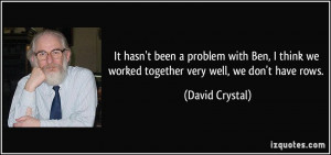 More David Crystal Quotes