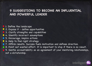 ... suggestions to become an influential and powerful leader Intelligenthq