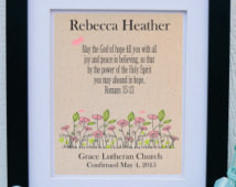 Confirmation Gift for Girl - Girls confirmation - Bible Verse Romans ...
