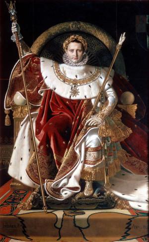 Napoléon Ier sur le trône impérial, 1806.