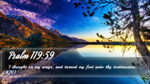 Psalm 119:59 - Bible Verse Quote by bible-quote