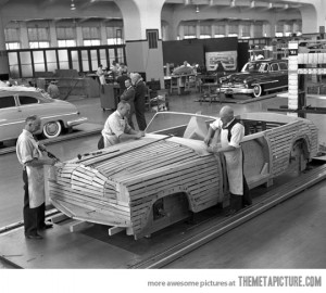 Funny photos funny old Ford factory photograph
