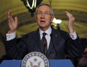 Senate Majority Leader Harry Reid (D-NV) holds a news conference on ...