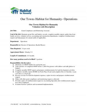 blank job description templates