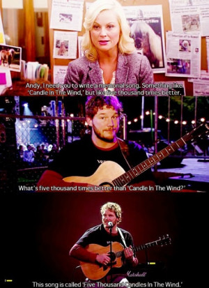 Funny Parks And Recreation Andy Song