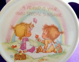 Hallmark Friendship mug with lid - vintage tea mug set with friendship ...
