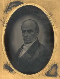 Daniel webster protests the war with