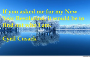 Cyril Cusack`s quote about resolutions