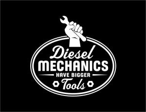 "Diesel Mechanics Have Bigger Tools"" Trucker T Shirt"