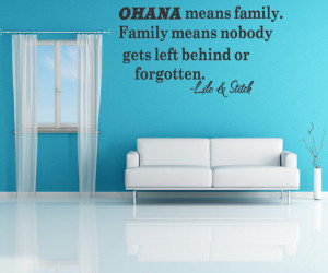 Ohana Means Family Lilo And Stitch Disney Quote Vinyl Wall Decal Decor ...