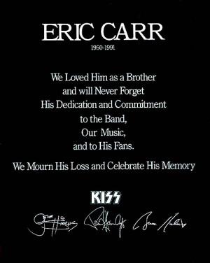Eric Carr Quotes QuotesGram