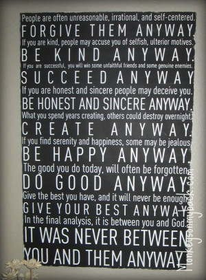 Mother Theresa Quote DIY Wall Art