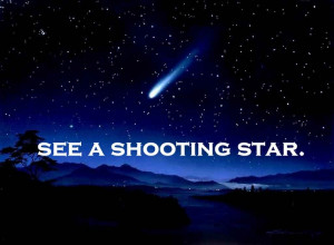 See a shooting star atleast one more time ;)