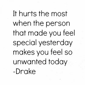drake #quote #unwanted #impossible love