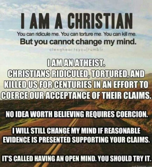 am an Atheist.....