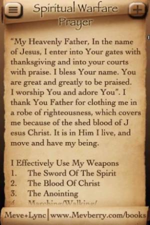 View bigger - Spiritual Warfare Prayer for Android screenshot