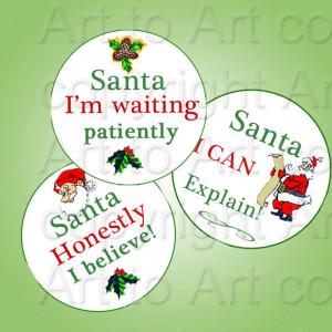 Cute Santa Sayings Stars...