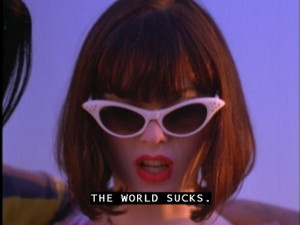Rose McGowan's pink Cat Eye's in The Doom Generation (1995).