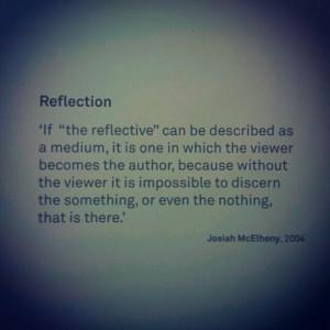 reflection Josiah McElheny White Chapel
