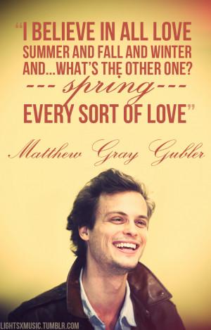 Matthew Gray Gubler Quotes