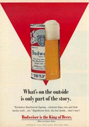 old budweiser beer ads a budweiser can inside a sandwich