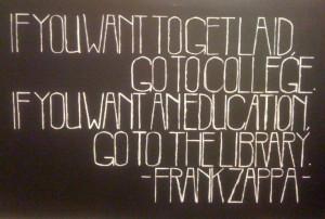 Zappa Quote, Acrylic on Wood