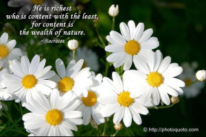 He is richest who is content with the least, for content is the wealth ...