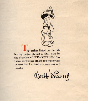 Pinocchio Trade Ad from 1940