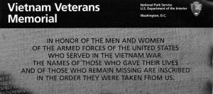 National Park Service Brochure for the Vietnam Veterans Memorial