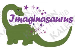 children s video productionpany logo logo design for imaginasaurus