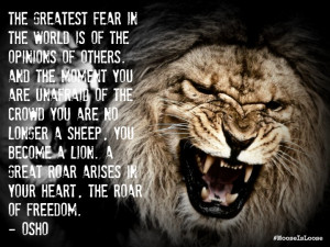 Osho Lion Quotes Lions roar quote osho