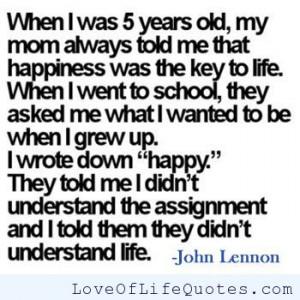 john lennon quote on happiness john lennon quote on being honest john ...