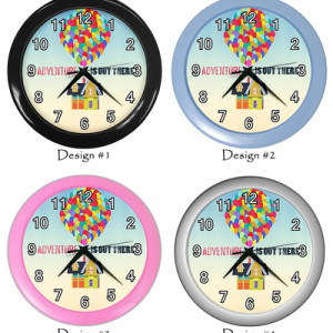 Adventure Is Out There Disney Up Pixar Quotes Wall Clock Home Room ...