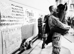 love #army #military #cute #couple #kiss #heart